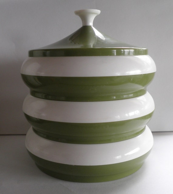 Green Kitchen Canisters: Avocado Green Kitchen Canister Set
