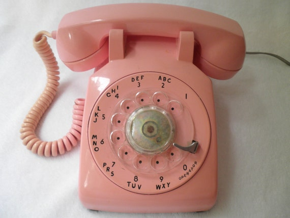 Pink Northern Bell Rotary Phone