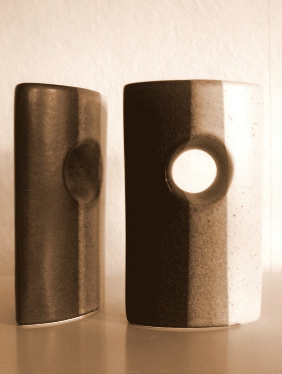 Mid Century Modern Fabrik Salt and Pepper Set circa 1970 Heath Era