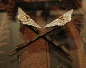 Steampunk Wing Commander Hair Clips