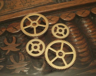 Brass Gear Sample Pack Small -- Steampunk and Scrapbooking Supplies