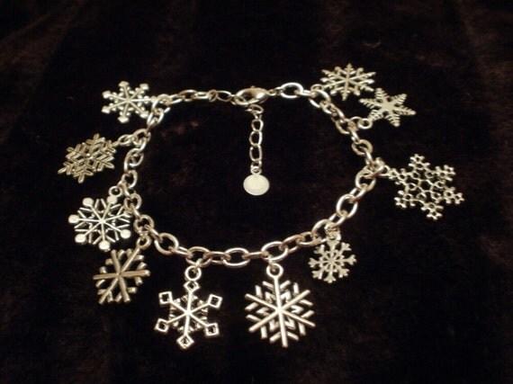 Snowflake Charm Bracelet for a special unique snowflake