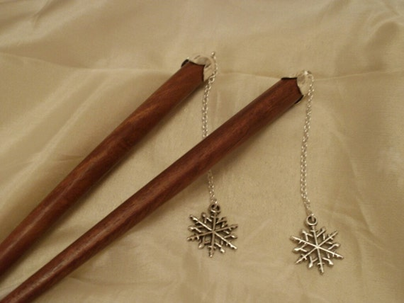Snowflake Hair Stick Accessory