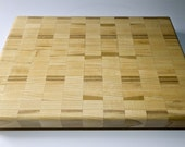 Poplar Retangular Checkered Countertop Butcher Block Cutting Board Light Wood Cutting Board Anniversary Gift Christmas Gift Bday Gift