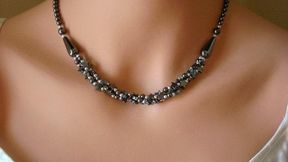 Hemitite Necklace Stars at Night