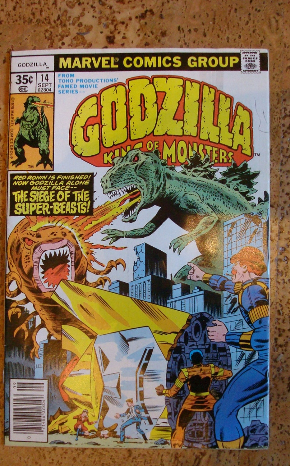 1978 Marvel Comic Book Godzilla King Of Monsters