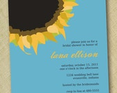 DIY custom printable sunflower wedding shower invite 5x7 digital file