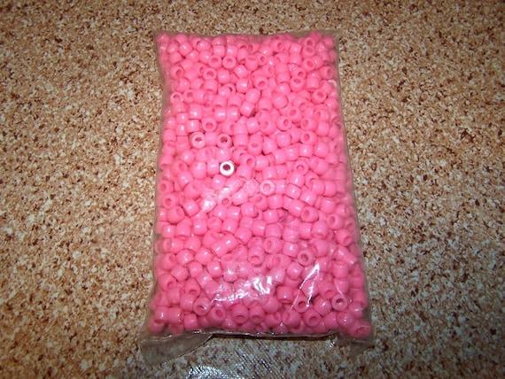 Pink Pony Beads  for Kids 1000  9mm   Destash SALE  Bulk Childrens Crafts VBS Relay Church