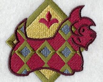 Plaid Scottish Terrier Embroidered Flour Sack Hand/Dish Towel