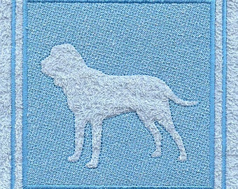 Bloodhound Embossed Style Embroidered Flour Sack Hand/Dish Towel
