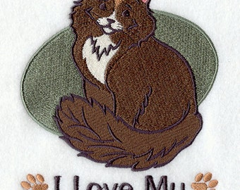 I Love My Maine Coon Embroidered Flour Sack Hand/Dish Towel