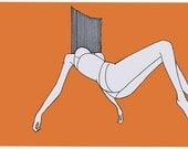 Print Orange A4 - 'Fall' Illustration