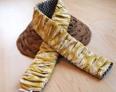 Gathered Camera Strap Cover in Mustard-FREE SHIPPING