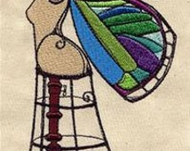 Winged Beauty Dress Form Butterfly Embroidered Flour Sack Hand/Dish Towel