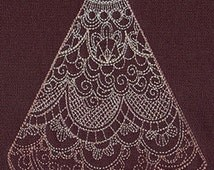 Delicate Wedding Dress Towel Embroidered Flour Sack Hand/Dish Towel