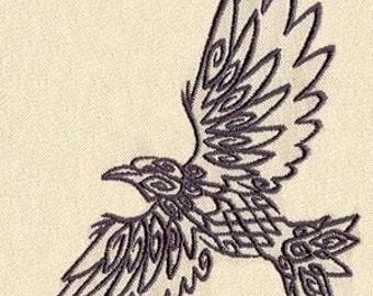 Celtic Knot Raven Embroidered Flour Sack Hand/Dish Towel