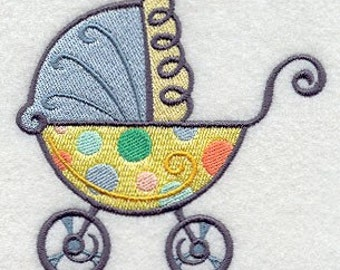 Baby Carriage Embroidered Flour Sack Hand/Dish Towel