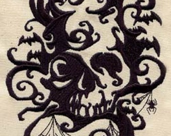 Spooky Shadows Embroidered Flour Sack Hand/Dish Towel