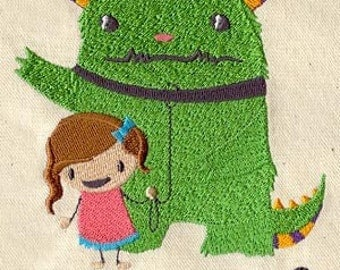 Can I Keep It - Monster Embroidered Flour Sack Hand/Dish Towel