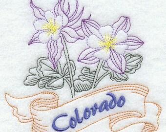 Colorado Columbine State Flower Flour Sack Hand/Dish Towel