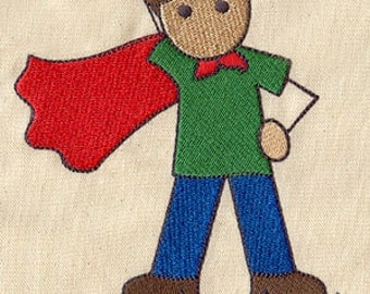 Super Dad Embroidered Flour Sack Hand/Dish Towel