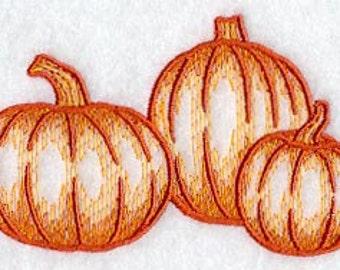 Simple Pumpkins Embroidered Flour Sack Hand/Dish Towel