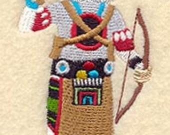Bear Kachina Embroidered Flour Sack Hand/Dish Towel
