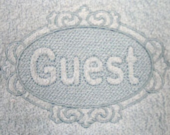Guest Embossed Embroidered Flour Sack Hand/Dish Towel
