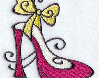 Lipstick Shoe Embroidered Flour Sack Hand/Dish Towel