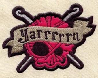 Yarrrrrn Yarn FLEECE APPLIQUE Embroidered Flour Sack Hand/Dish Towel