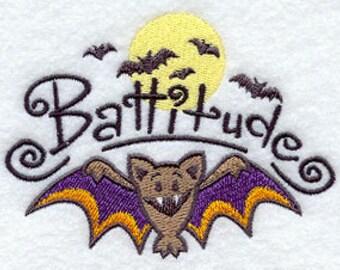 Battitude Embroidered Flour Sack Hand/Dish Towel