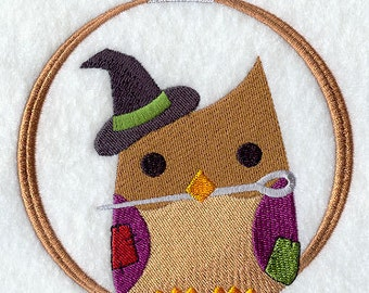 Crafty Owl in the Hoop Embroidered Flour Sack Hand/Dish Towel