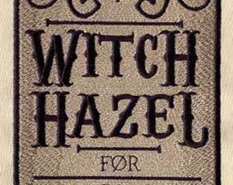 Apothecary Witch Hazel Embroidered Flour Sack Hand/Dish Towel
