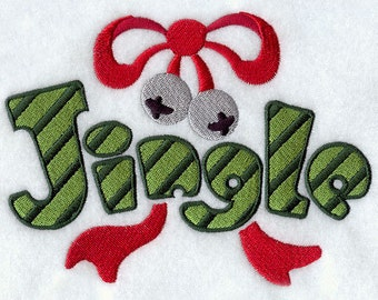 Jingle Embroidered Flour Sack Hand/Dish Towel