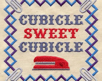 Cubicle Sweet Cubicle Embroidered Flour Sack Hand/Dish Towel