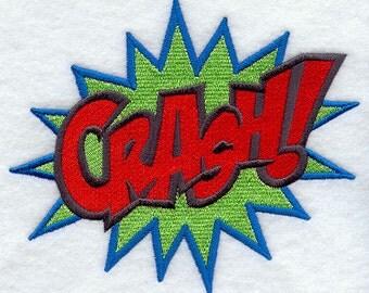 Cartoon Comic Book CRASH Embroidered Flour Sack Hand/Dish Towel