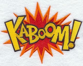 Cartoon Comic Book KABOOM Embroidered Flour Sack Hand/Dish Towel