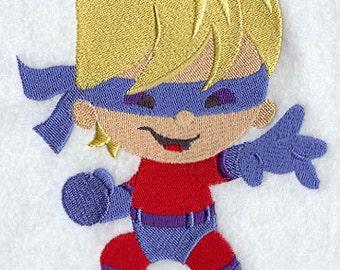 Comic Book Kid Dynamo Embroidered Flour Sack Hand/Dish Towel