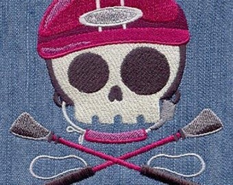 Equestrian Skully Embroidered Flour Sack Hand/Dish Towel