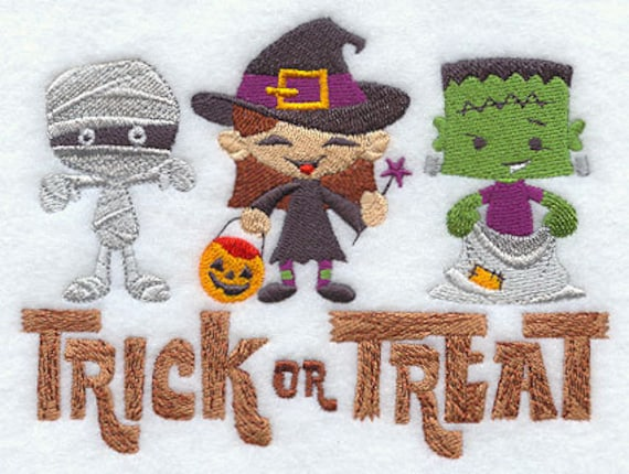 Trick or Teaters Embroidered Flour Sack Hand/Dish Towel