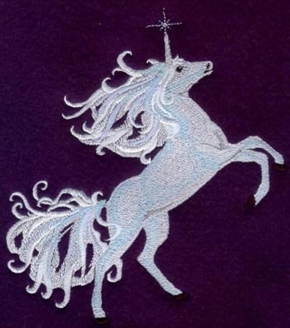 Moonlit Knot Unicorn Embroidered Flour Sack Hand/Dish Towel