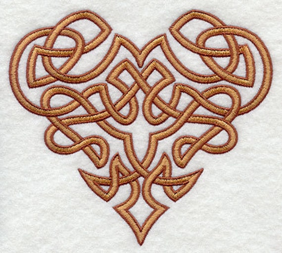 Celtic Knot Heart Embroidered Flour Sack Hand/Dish Towel