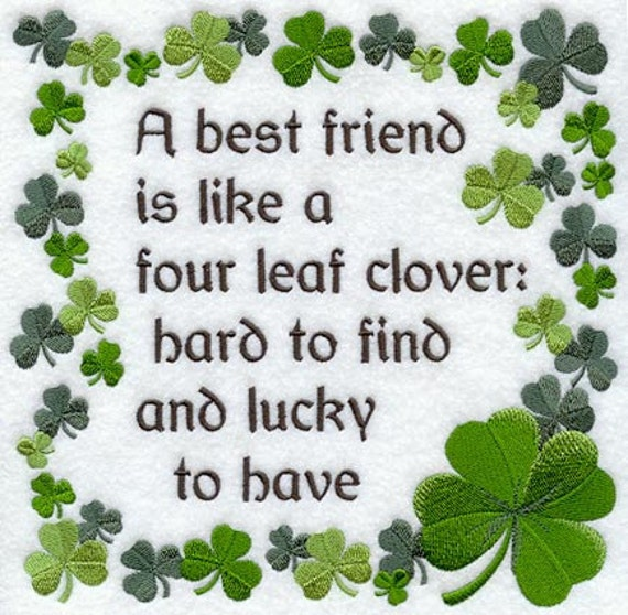 Irish Blessing Best Friends Embroidered Flour Sack Hand Towel