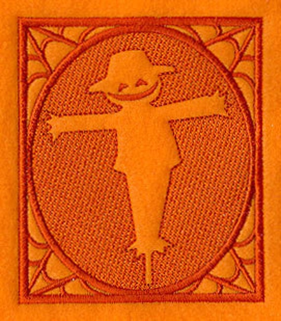 Embossed Scarecrow Square Embroidered Flour Sack Hand Towel