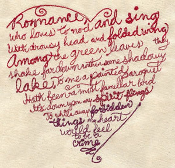Romance Embroidered Flour Sack Hand/DIsh Towel