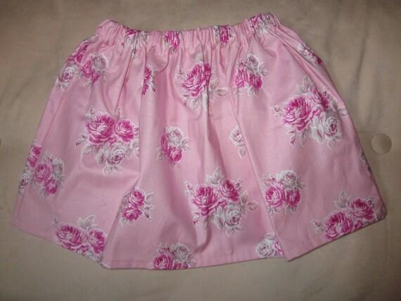 Shabby Chic Roses Girls Twirl Skirt 5 6 - ready to ship