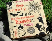 Halloween Spooky Journal with Autumn Paper