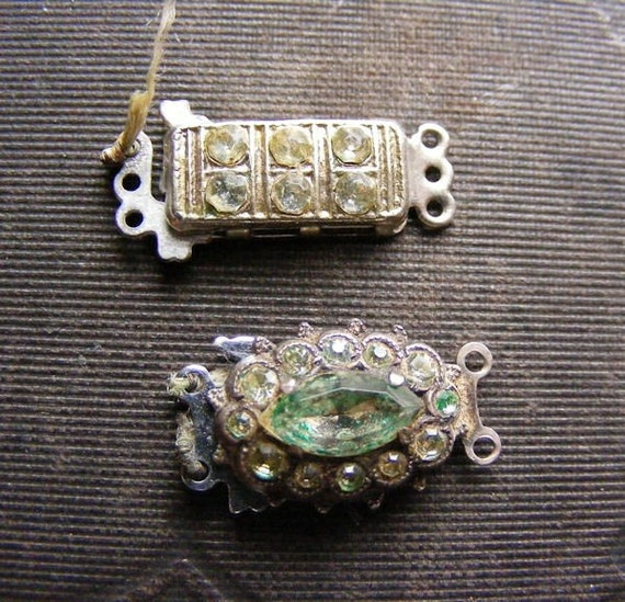 Vintage Rhinestone Clasps 89
