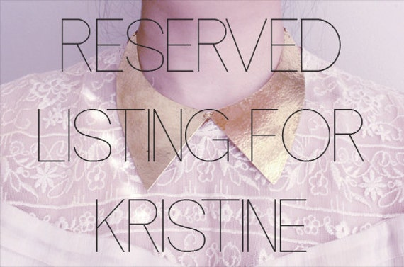 RESERVED FOR KRISTINE: Collar Hammered Brass Choker