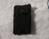 Hand Knitted Black IPhone and digital camera Cover